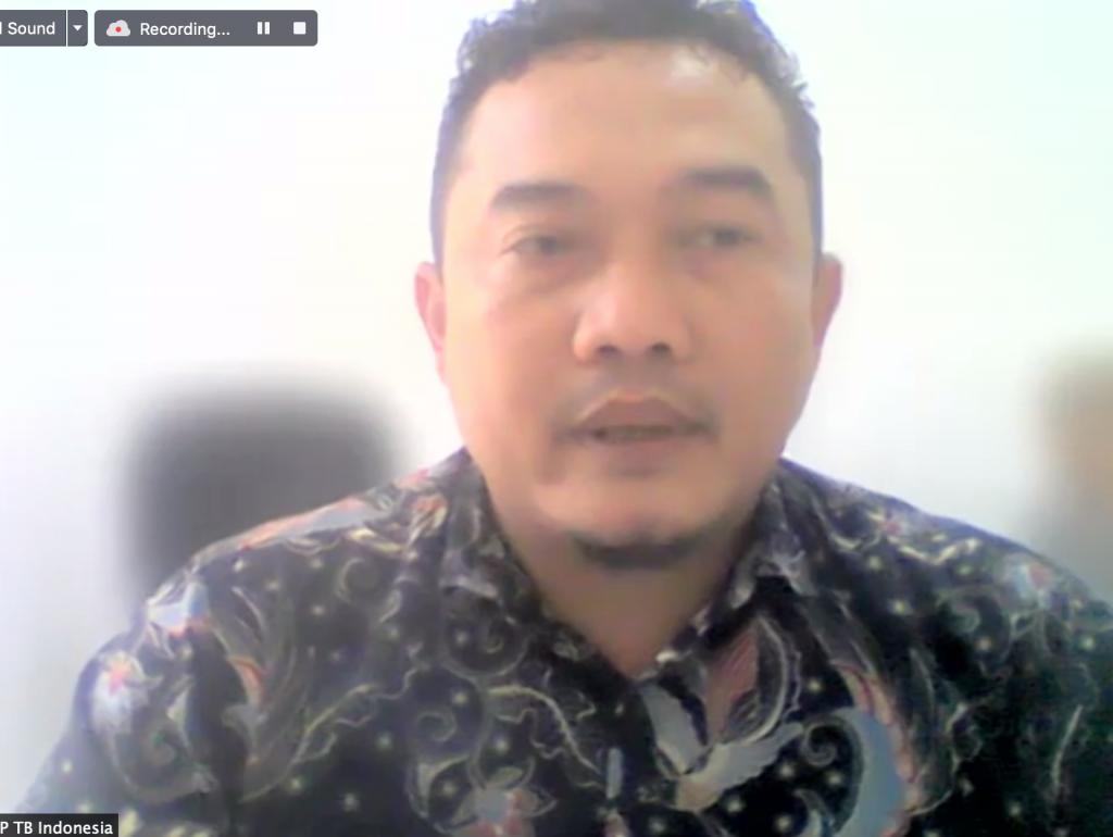 Sambutan oleh Bapak Budi Hermawan - Ketua POP TB Indonesia